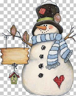 Christmas Card Snowman Greeting Card PNG