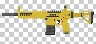 Firearm Pixel Art M4 Carbine PNG