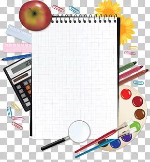 Paper Notebook School Supplies PNG