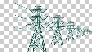Electricity Transmission Tower High Voltage Utility Pole PNG