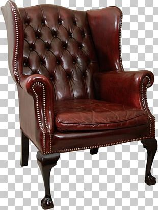 Club Chair Table Wing Chair Queen Anne Style Furniture Couch PNG