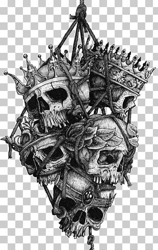 Human Skull Symbolism Tattoo Crown Head PNG