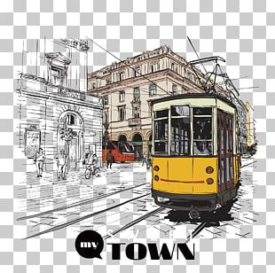 Tram Fashion Drawing Illustration PNG