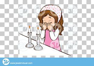 Shabbat Candles Rabbi Jewish Holiday PNG
