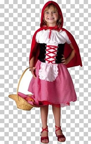 Little Red Riding Hood Disguise Costume Chaperon Dress PNG