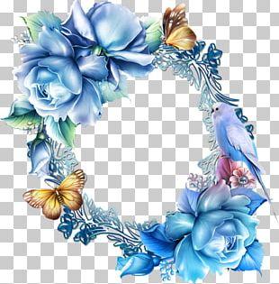 Paper Flower Blue Rose PNG
