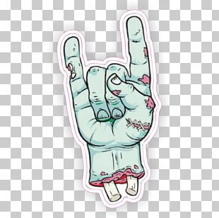 Sticker Zombie Thumb Decal Rock Music PNG