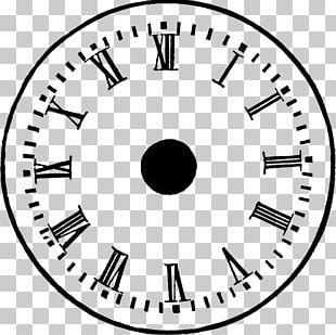 Clock Face Antique Open PNG