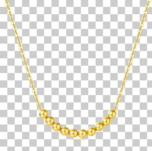 Necklace Jewellery Czerwone Złoto Gold Chain PNG