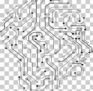 Printed Circuit Board Electrical Network PNG