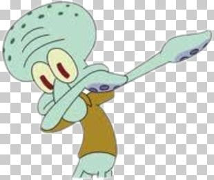 Squidward Tentacles Dab T-shirt Dance Meme PNG