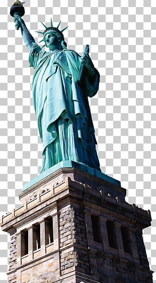 Statue Of Liberty Empire State Building New York Harbor Hudson River Liberty Island PNG
