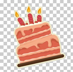 Pink Birthday Cake PNG