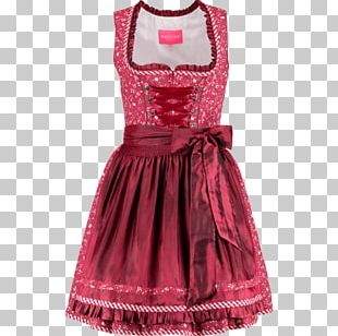 Fashion Dirndl Cocktail Dress Folk Costume PNG
