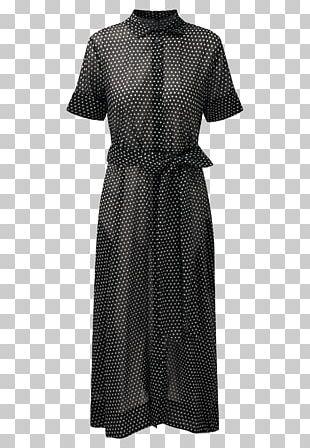 Shirtdress Polka Dot Top Little Black Dress PNG