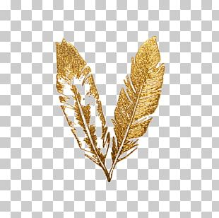Feather Gold Flash Tattoo PNG