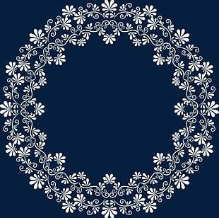 White Lace Frame PNG