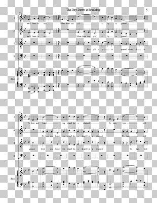 Sheet Music Choir SATB Composer PNG