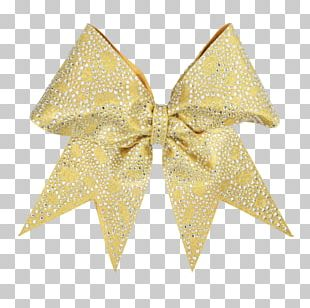 Gold Ribbon Bow And Arrow Hair Metal PNG