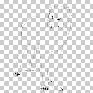 Whiskers Cat Line Art Paw Sketch PNG