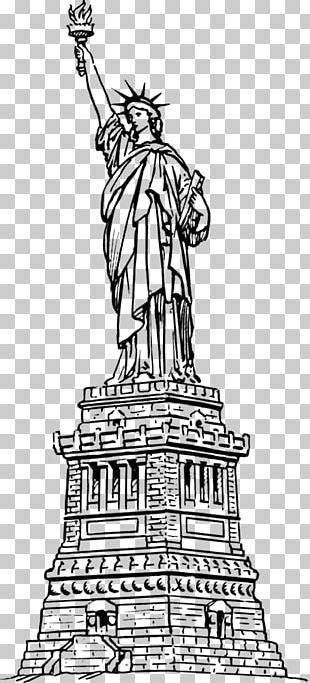 Statue Of Liberty Coloring Book Drawing Hudson River PNG
