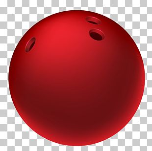 Red Bowling Ball Sphere PNG