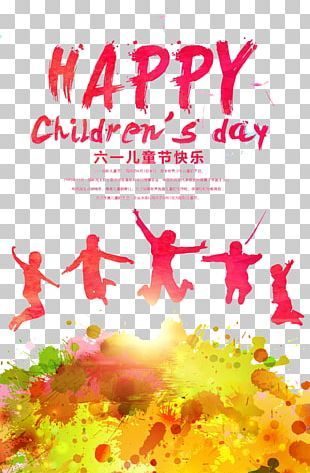 Children's Day Poster Happiness Illustration PNG
