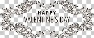 Valentines Day Typeface Greeting Card Qixi Festival Font PNG