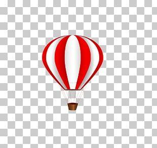 Hot Air Ballooning Flight Red PNG