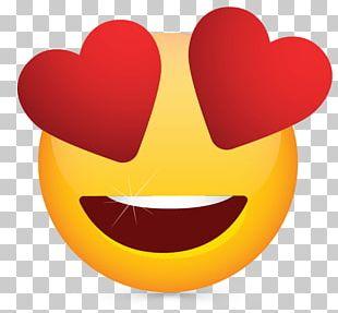 Heart Smiley Emoji Eye PNG