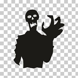 Ghoul Silhouette Halloween PNG