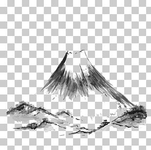 Mount Fuji Mountain Drawing Illustration PNG