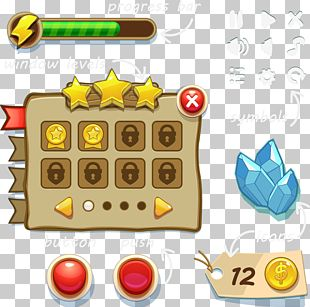 Button Game User Interface PNG