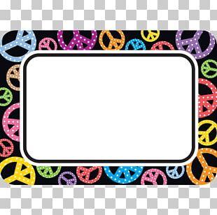 Name Tag Peace Symbols Sticker PNG