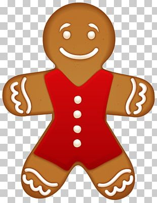 Gingerbread Man Muffin Cookie PNG