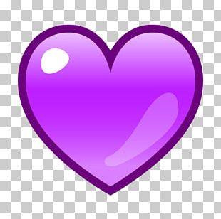 Emoji Emoticon Purple Heart SMS PNG