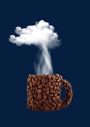 Coffee Beans Cup Shape PNG