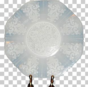 Depression Glass Macbeth-Evans Glass Company Milk Glass Platter PNG