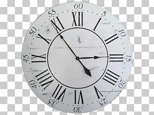 Stencil Clock Face Floating Shelf PNG