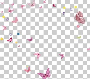 Butterfly Flower Fairies Mural PNG