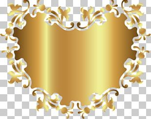 Gold Ornament Pattern PNG