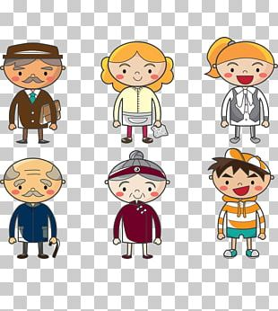 Cartoon Family Stock Photography PNG