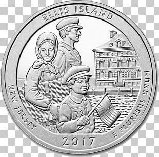 Ellis Island Statue Of Liberty New Jersey America The Beautiful Silver Bullion Coins PNG