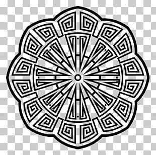 Coloring Book Line Art Mandala Black And White PNG