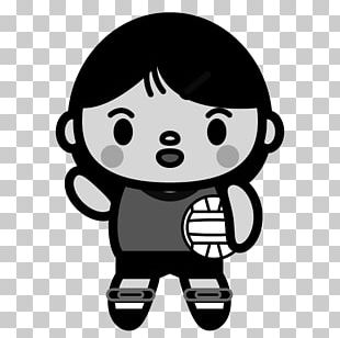 Japan Women's National Volleyball Team Black And White Drawing Monochrome Painting PNG