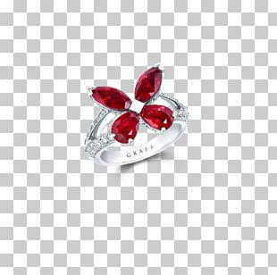 Ruby Graff Diamonds Ring Jewellery PNG