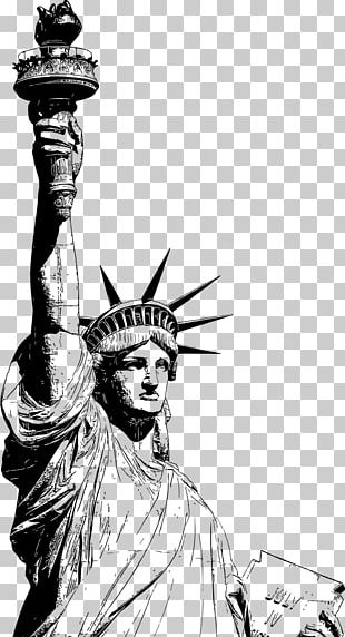 Statue Of Liberty Eiffel Tower Drawing PNG