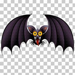 Bat Halloween Cartoon PNG