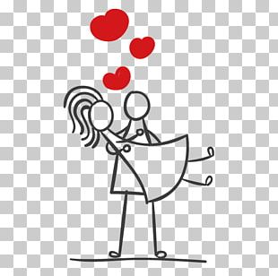 Stick Figure Couple Marriage PNG