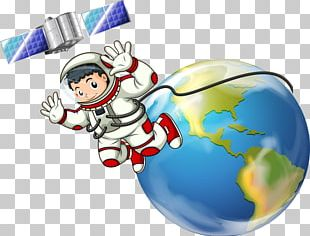 Cartoon Astronaut Outer Space Illustration PNG